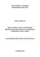 prikaz prve stranice dokumenta Pravna regulativa i suvremeni trendovi kratke tekstualne poruke u Europskoj uniji i Africi