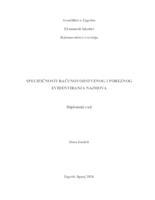 prikaz prve stranice dokumenta SPECIFIČNOSTI RAČUNOVODSTVENOG I POREZNOG EVIDENTIRANJA NAJMOVA