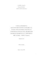 prikaz prve stranice dokumenta Utjecaj promjena računovodstvenih standarda na ocjenu financijskog položaja i uspješnosti poslovanja odabranih kotirajućih društava u Republici Hrvatskoj - MSFI 16 Najmovi